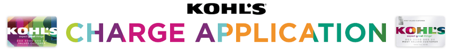 Kohl's Charge Application and images of Kohl's charge cards